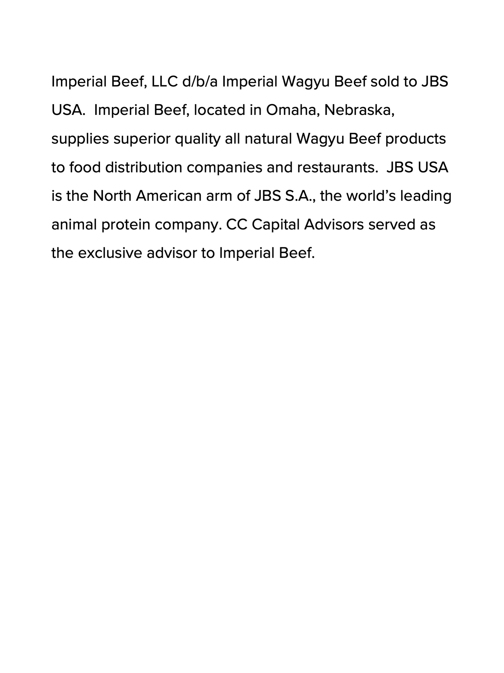 Imperial American Wagyu Beef