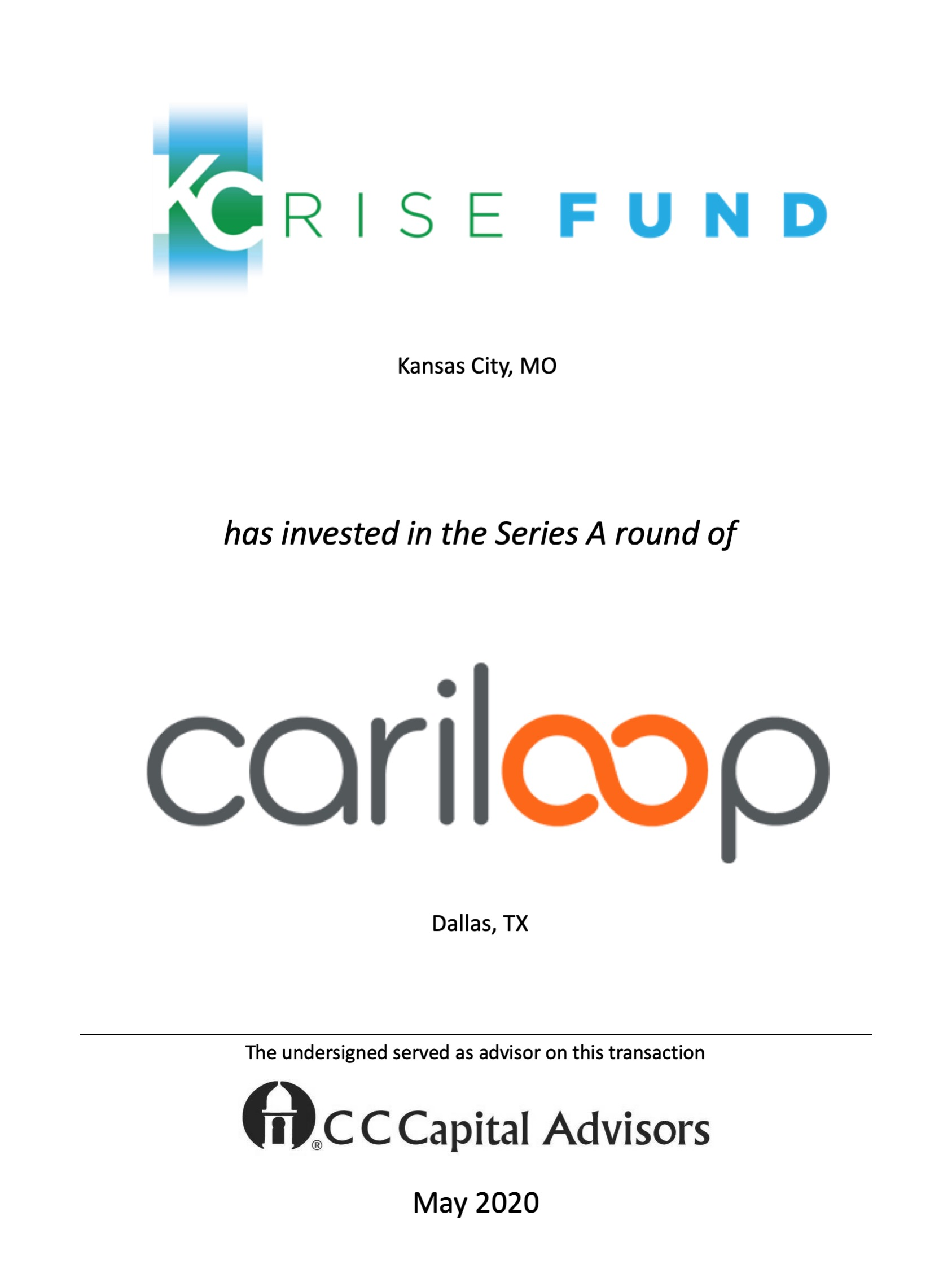 KCRise Fund and Cariloop