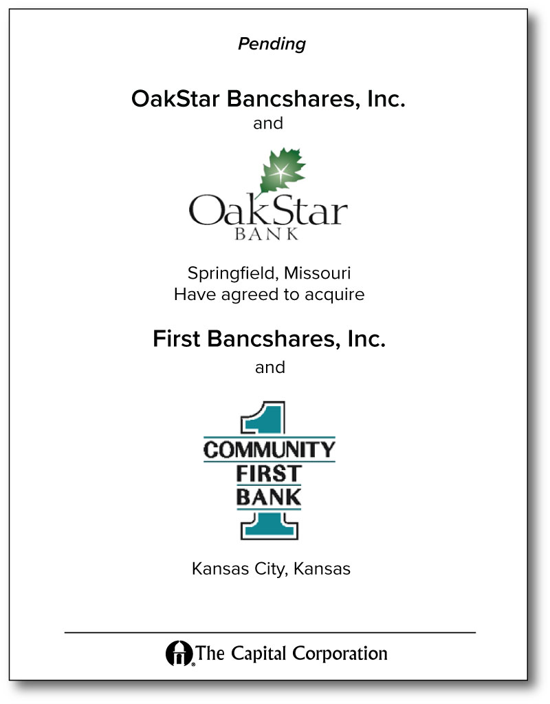 Oak Star / First Community Bank