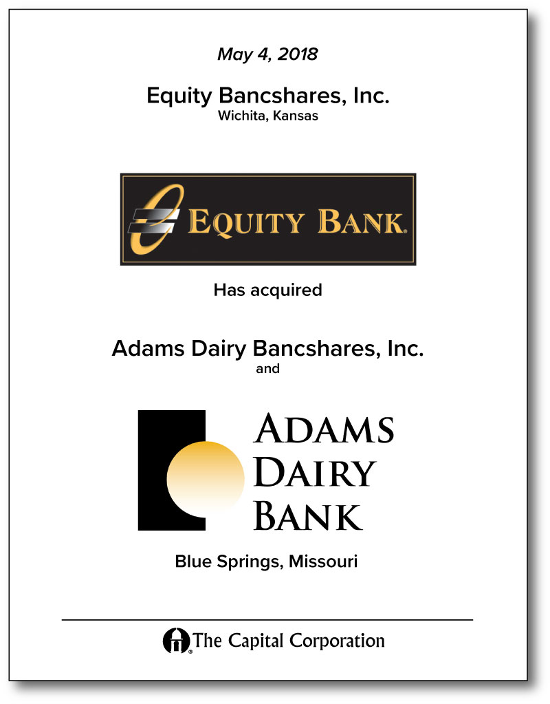 Equity Bancshares, Inc - Adams Dairy