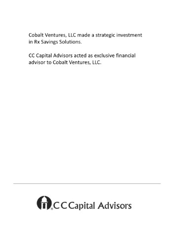 Colbalt Ventures - RX Savings