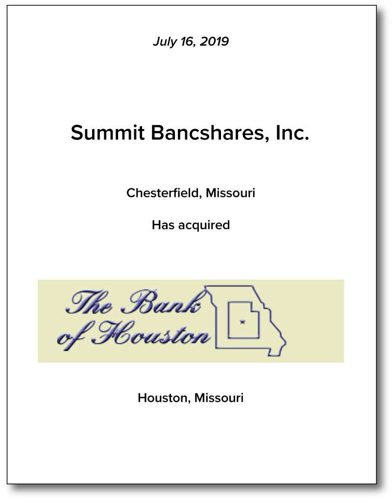Summit Bancshares, Inc